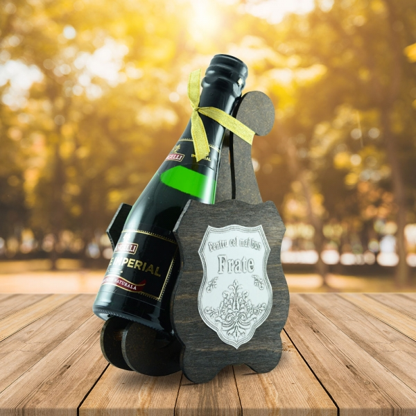 Sticla De Vin Spumant + Suport - Cel Mai Bun Frate - 0.2L