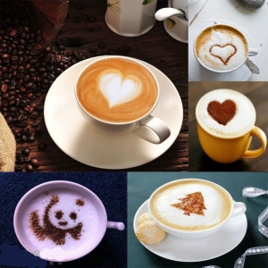 Set 16 Sabloane Creative Pentru Cappuccino