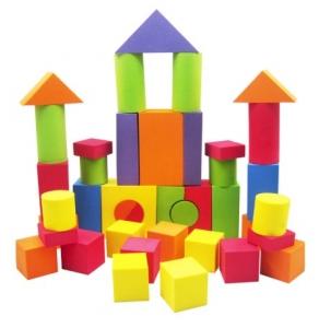 Pachet de 38 de blocuri din burete pentru copii - Joc Creativ