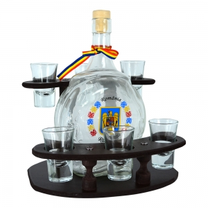 Suport Cu Sticla Si 6 Pahare Tuica