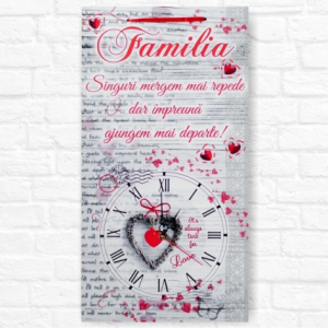 Ceas Familia - 50x27 cm