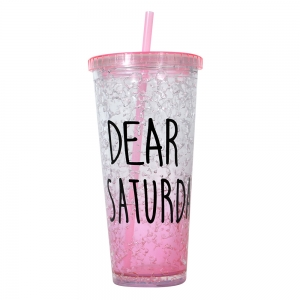 Pahar De Vara Cu Pai Dear Saturday #4 650 ML – Mentine Bautura Rece