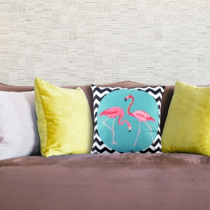 Perna Decorativa Flamingo 45X45 CM