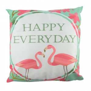 Perna Decorativa Flamingo Happy Everyday 45X45 CM