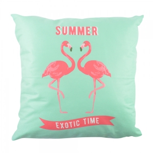Perna Decorativa Flamingo Summer Exotic Time 45X45 CM