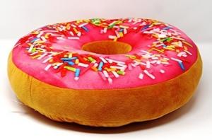 Perna Decorativa Donut Rosu 35X35 CM