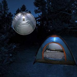 Lanterna Camping Cu Incarcare Solara, USB Sau La Priza – 6 Leduri
