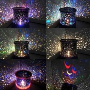 Lampa LED Proiector Laser – Stele - Roz