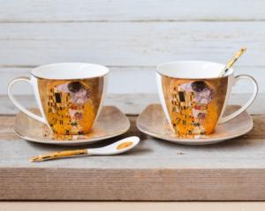Set 2 cesti cafea Klimt - Auriu