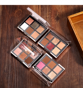 Set 2 Palete Profesionale 2in1 - 6 farduri ochi + 2 farduri obraz O.TWO.O Eyeshadow & Blush