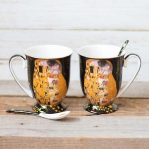Set 2 cani Klimt - Negru