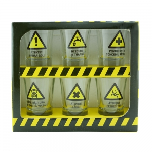 Set 6 Pahare Shot-uri Warning Shots 35 ML