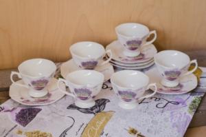Set cafea pentru 6 persoane Lavanda