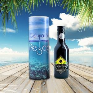 Set Sticla De Vin 187 ML + Cutie Cadou - Cel Mai Bun Pescar - 22 CM