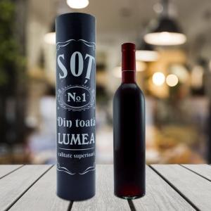 Set Sticla De Vin 500 ML + Cutie Cadou - Cel Mai Bun Sot - 33 CM