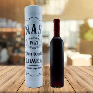 Set Sticla De Vin 500 ML + Cutie Cadou - Cel Mai Bun Nas - 33 CM