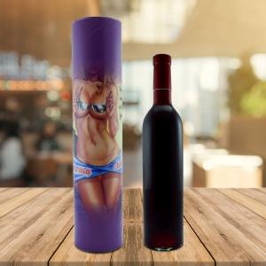 Set Sticla De Vin 500 ML + Cutie Cadou - La Multi Ani - 33 CM