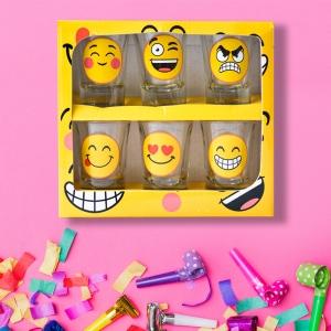 Set 6 Pahare Shot-uri Funny Emoji 35 ML
