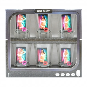 Set 6 Pahare Shot-uri Hot Shot Woman 35 ML