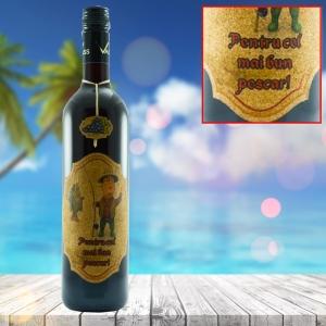 Sticla de vin Pentru Cel Mai Bun Pescar - 750 ml