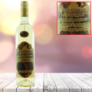 Sticla de vin Alb - La multi ani! - Viseaza - 750 ml