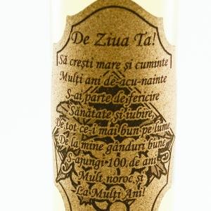 Sticla de vin Alb - De ziua ta! - 750 ml