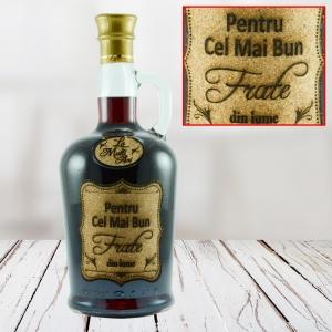 Sticla de vin Pentru Cel Mai Bun Frate - 750 ml