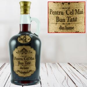 Sticla de vin Pentru Cel Mai Bun Tata - 750 ml