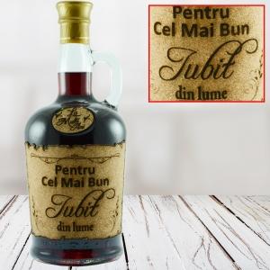 Sticla de vin Pentru Cel Mai Bun Iubit - 750 ml