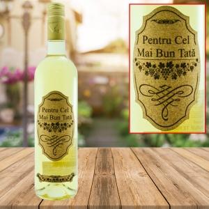 Sticla de vin Pentru Cel Mai Bun Tata #2 - 750 ml