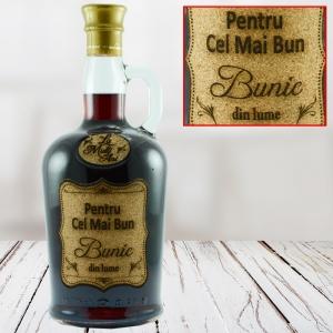Sticla de vin Pentru Cel Mai Bun Bunic - 750 ml