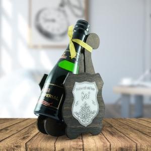 Sticla De Vin Spumant + Suport - Cel Mai Bun Sef - 0.2L