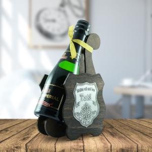 Sticla De Vin Spumant + Suport - Cel Mai Bun Tata - 0.2L