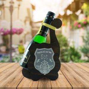 Sticla De Vin Spumant + Suport - Cel Mai Bun Sot - 0.2L
