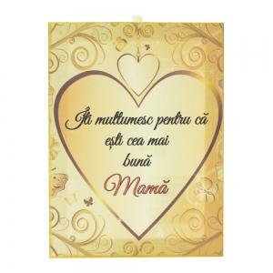 Tablou Canvas Cea Mai Buna Mama 20X15 CM