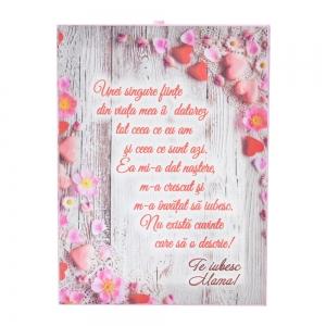 Tablou Canvas Te Iubesc, Mama! #1 20X15 CM