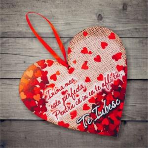 Tablou Te iubesc #3 - 20x19 cm