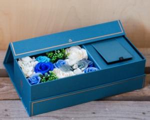 Trandafiri din Sapun Albastru 35x10 cm