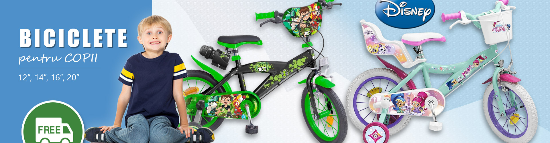 Biciclete Disney Frozen, Disney Cars, Soy Luna, Ben 10