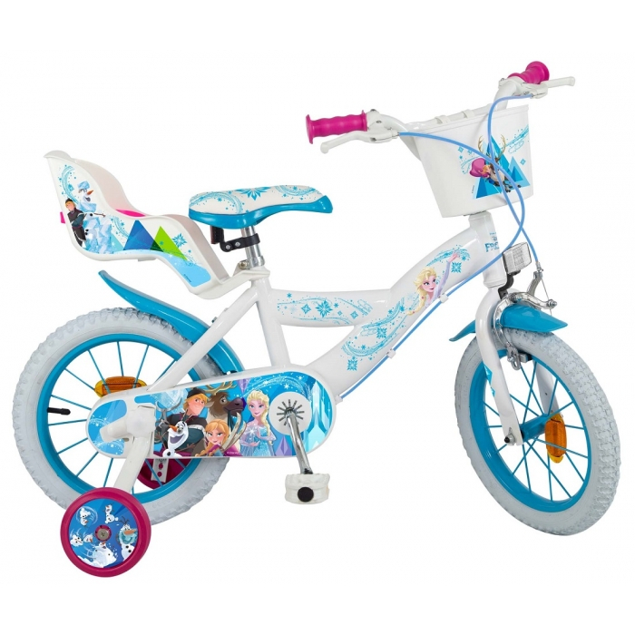 Bicicleta copii Fete Disney Frozen 14 inch 4-6 ani Toimsa