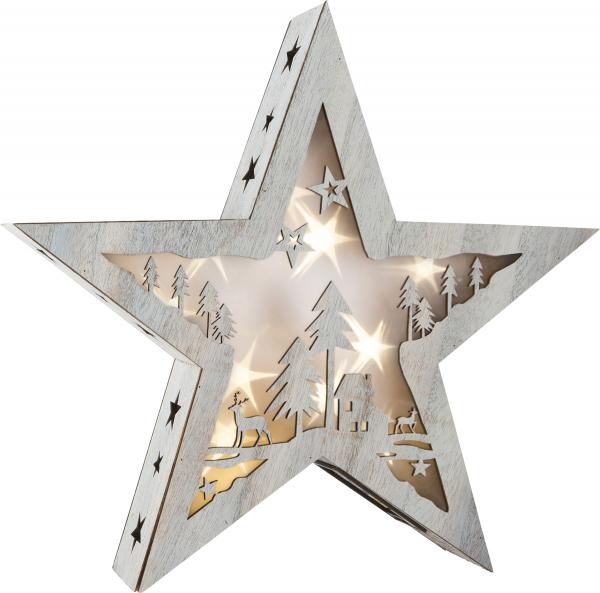 DECOR DIN LEMN LUMINOS SHINY STAR 37 CM