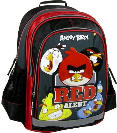 Ghiozdan scoala copii, Red Alert ANGRY BIRDS, 39 cm