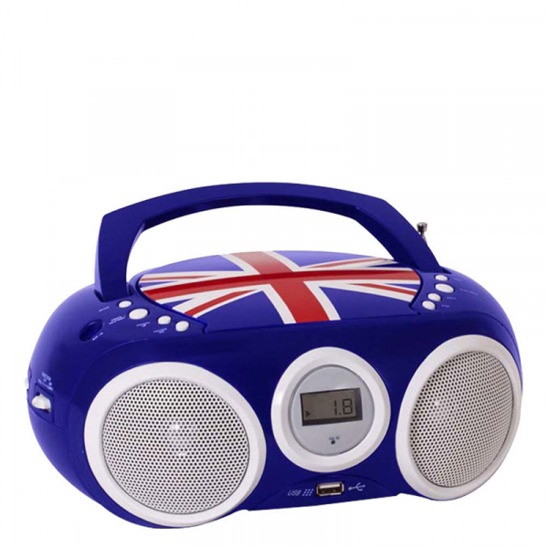 RADIO CD-PLAYER BLEU CU PORT USB ENGLAND BIGBEN