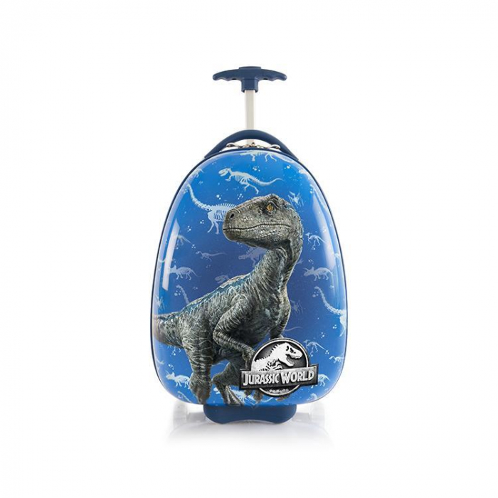 Troler ABS Copii, Heys, Jurassic World, Blue, 46 cm