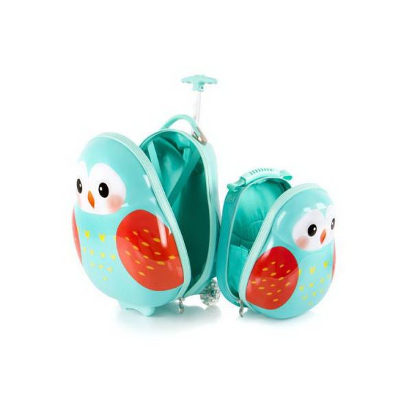Set-troler-vacanta-ABS-Copii-si-Ghiozdan-Owl-46-cm-Heys