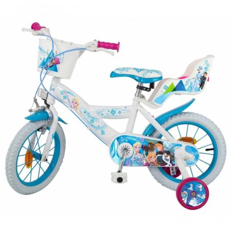 Bicicleta copii, Fete, Disney Frozen, 14 inch, 4-6 ani, Toimsa