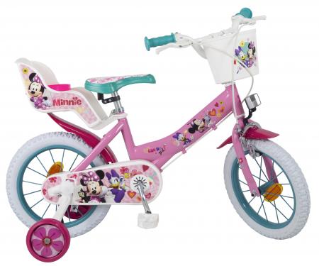 Bicicleta Copii, Toimsa, Disney Minnie Mouse, 12 inch, 3-5 ani