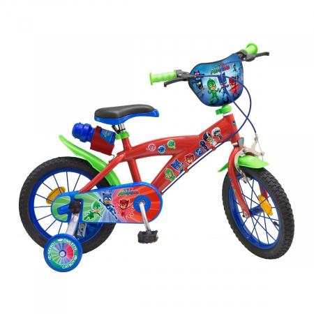 Bicicleta-roti-ajutatoare-copii-fete-baieti-Toimsa-Disney-Pj-Masks-14-inch-4-5-6-ani