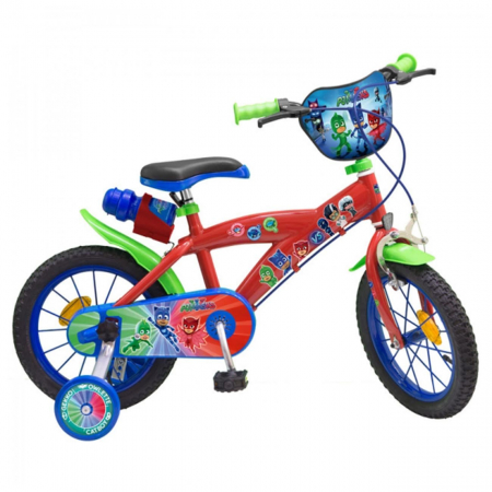 Bicicleta-roti-ajutatoare-copii-fete-baieti-Toimsa-Disney-Pj-Masks-14-inch-5-6-7-8-ani