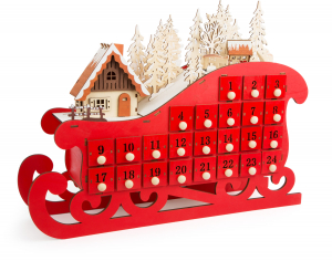 DECOR CRACIUN CALENDAR ADVENT SANIUTA 45 CM